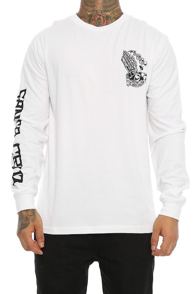 Santa Cruz Bone Guadalupe Long Sleeve Tee White