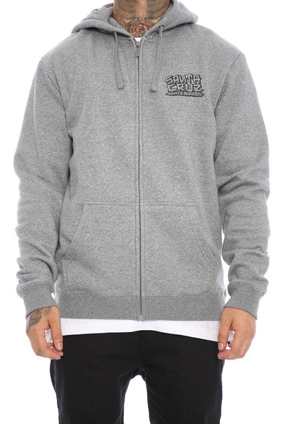 Santa Cruz Dressen Hand Zip Hood Grey Heather
