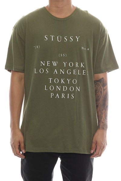 Stussy World Touring Tee Olive