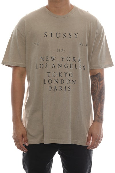 Stussy World Touring Tee Tan