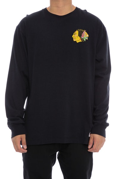 Blackhawks Triple Double Long Sleeve Black