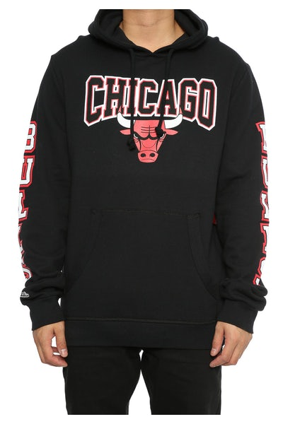 Mitchell & Ness Bulls Visiting Team Hoody Black