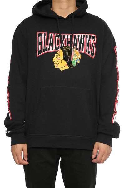 Mitchell & Ness Blackhawks Visiting Team Hoody Black