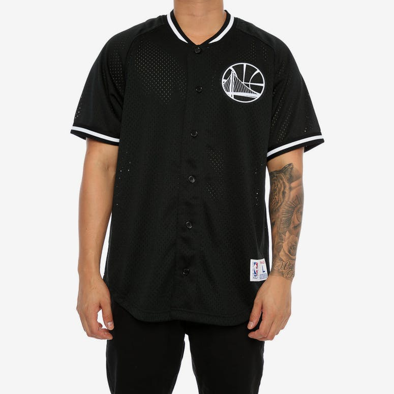 Mitchell   Ness Warriors Pro Mesh Button Up Black – Culture Kings 5567dcf50