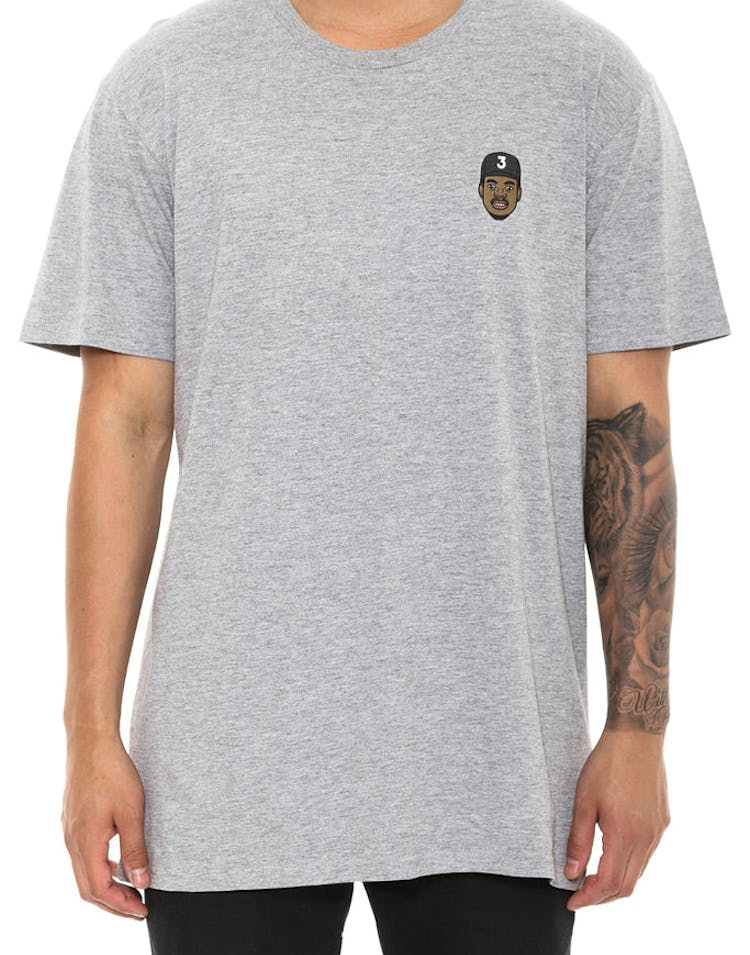Goat Crew Chano the Rapper Mini Head Tee Grey