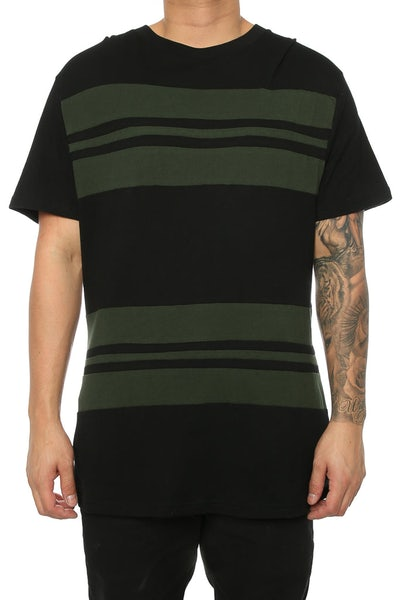 Dead Studios Scoop Stripe Tee Black/olive