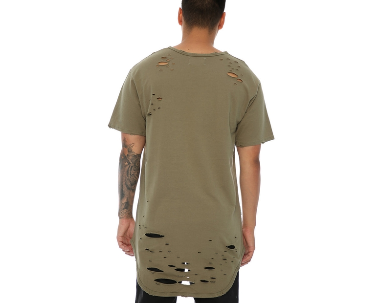 Saint Morta Slasher Distressed Tee Pale Green
