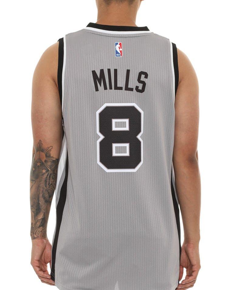 c975f1c91ed Adidas Performance Spurs 8 Mills Swingman Jersey Grey black ...