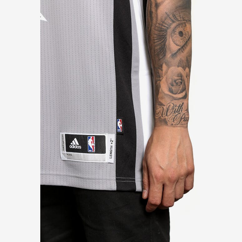 Adidas Performance Spurs 8 Mills Swingman Jersey Grey black ... 81fdc4272