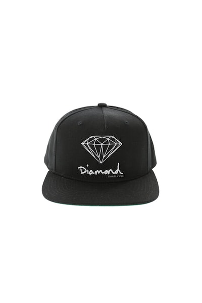 Diamond Supply OG Sign Snapback Black