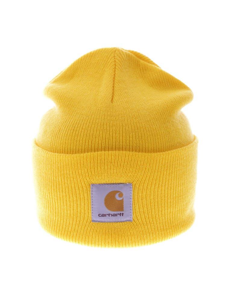 dbb81d87c4a770 Carhartt Acrylic Watch Beanie Yellow – Culture Kings
