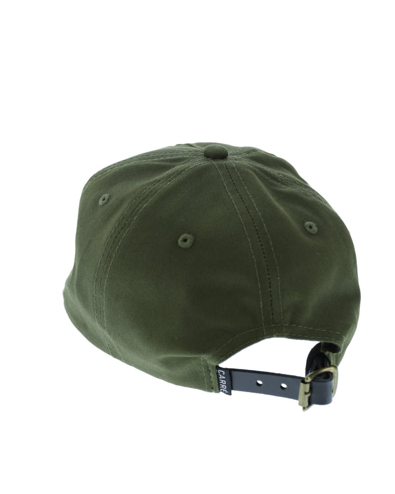 Centre Metal Badge Strapback Olive