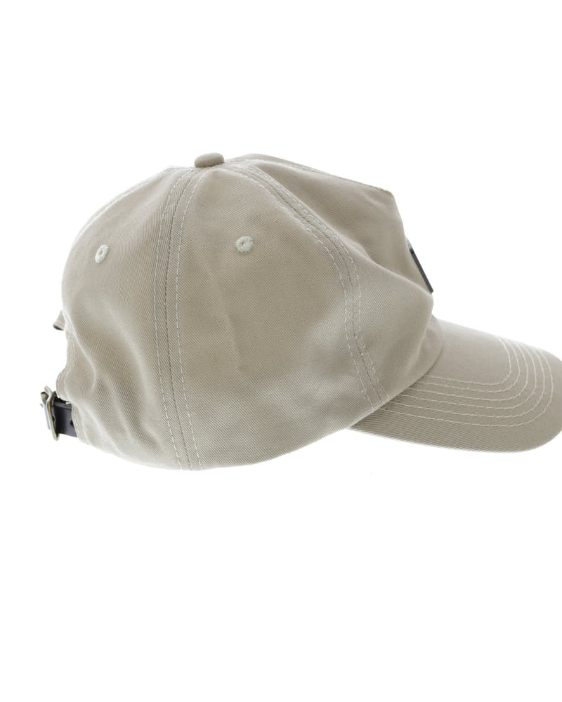 Centre Metal Badge Strapback Tan