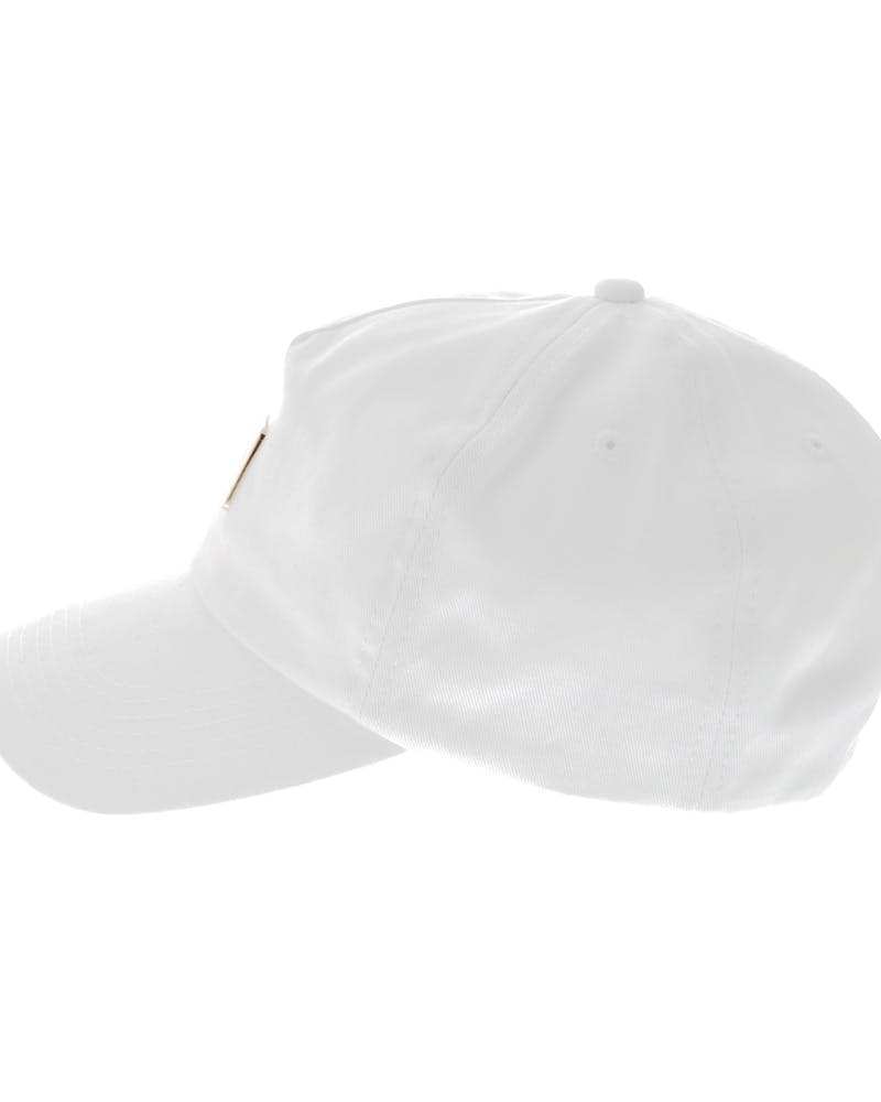 Centre Metal Badge Strapback White