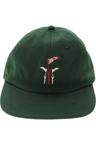 Draft Day Flying 5 Panel Strapback Dark Green