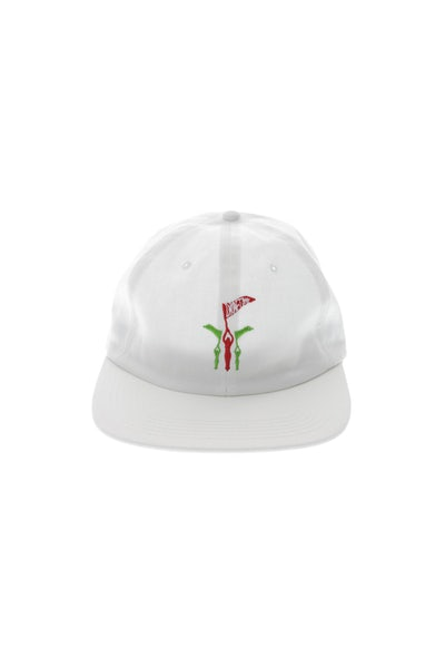 Draft Day Flying 5 Panel Strapback White
