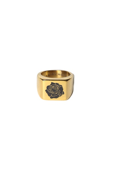 Saint Morta Rose of Death Ring Gold