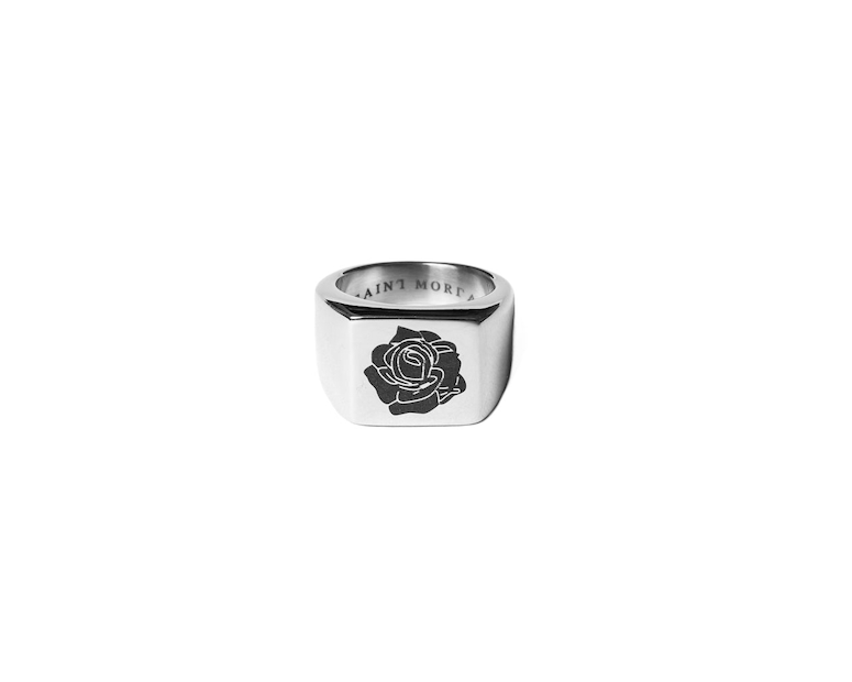 Saint Morta Rose of Death Ring Silver