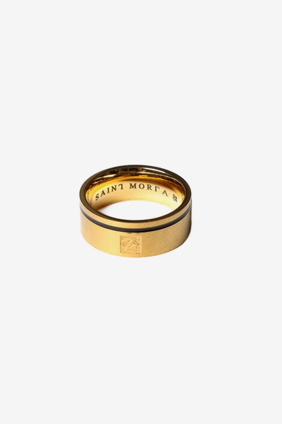 Saint Morta Mono Ring Gold