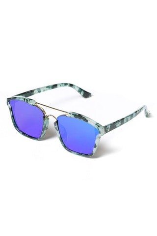 Yhf Los Angeles Do Not Disturbed Sunglasses Green/Blue