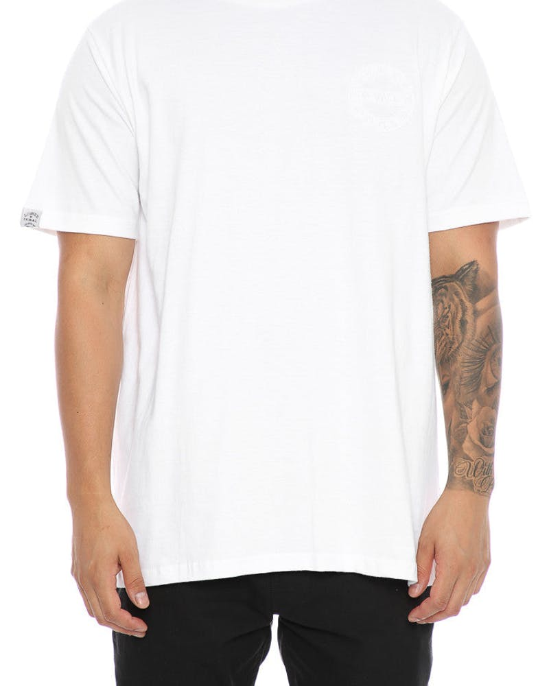 Lower Sign QRS Tee White