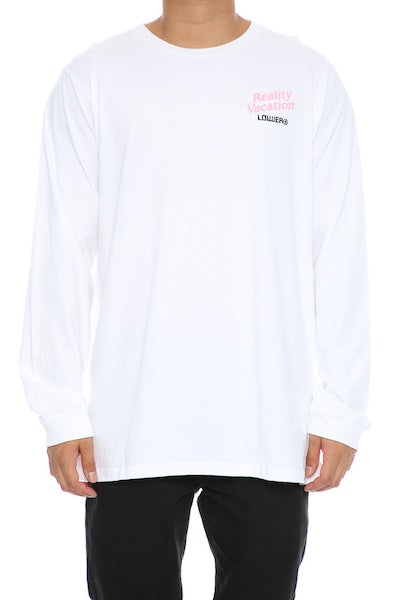 Lower Vacation QRS Long Sleeve White