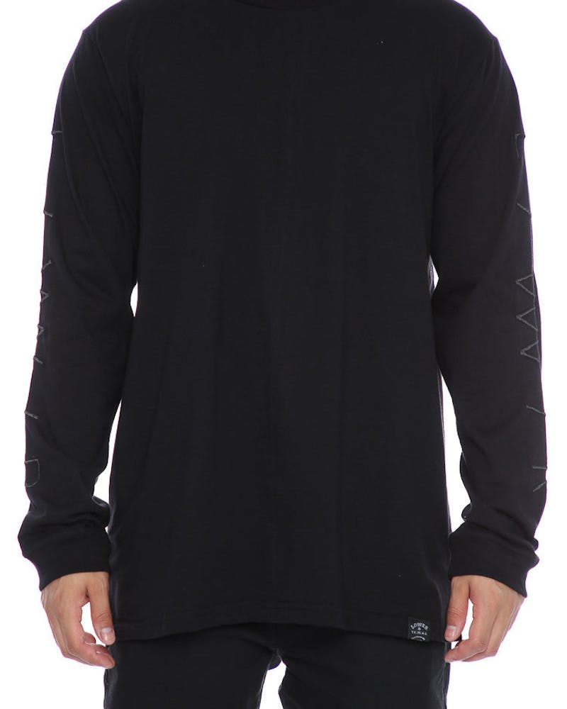 Lower Slash QRS Long Sleeve Tee Black