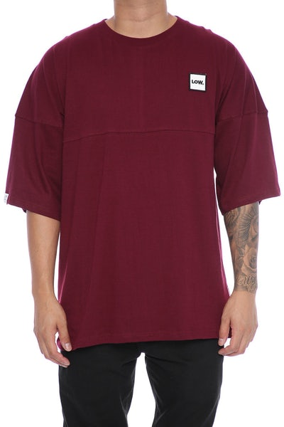 Lower Low Drop Tee Maroon