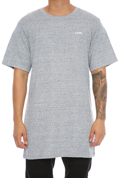 Lower Low Waffle Long Tee Grey