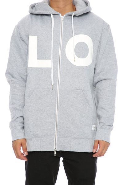 Lower LO Zip Hood Grey