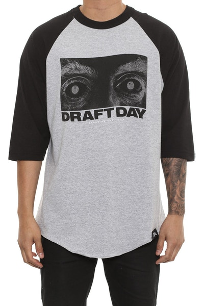 Draft Day Menacing Raglan Tee Grey/black