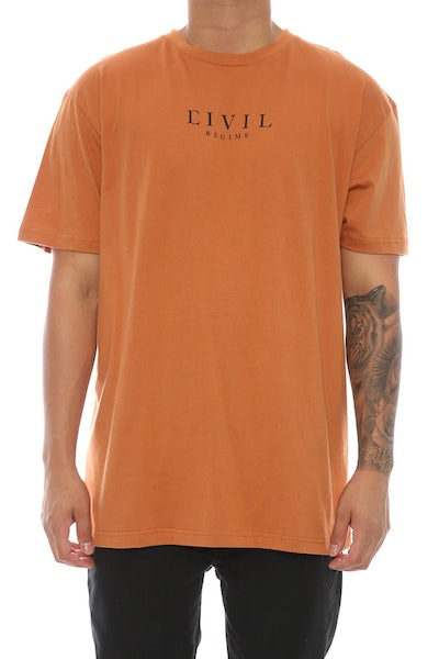 Civil Regime Core Tee Orange