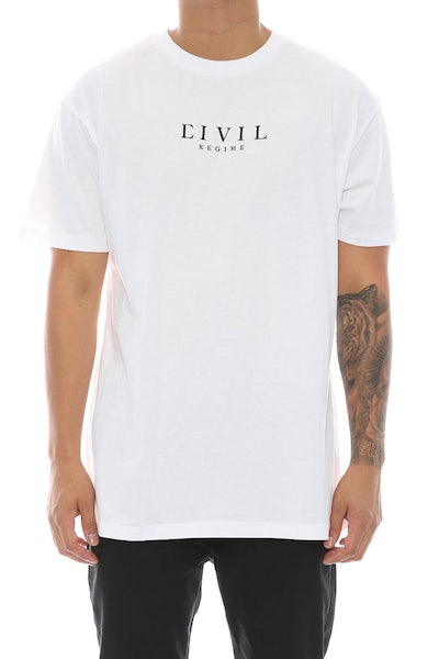 Civil Regime Core Tee White