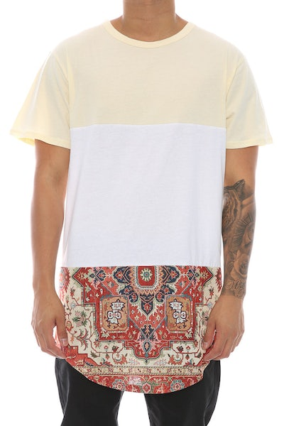 Civil Regime Bradley Kesh Drop Tee Cream/white
