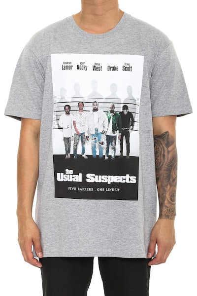 Goat Crew the Usual Suspects Tee Grey