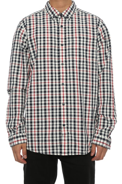 Patagonia Bluffside Button up White/red/navy