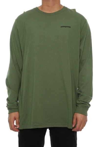 Patagonia P-6 Logo Long Sleeve Army Green
