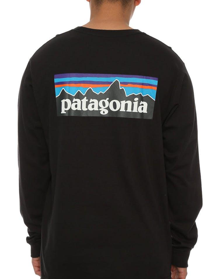 99019d5b01275 Patagonia P-6 Logo Long Sleeve Black – Culture Kings