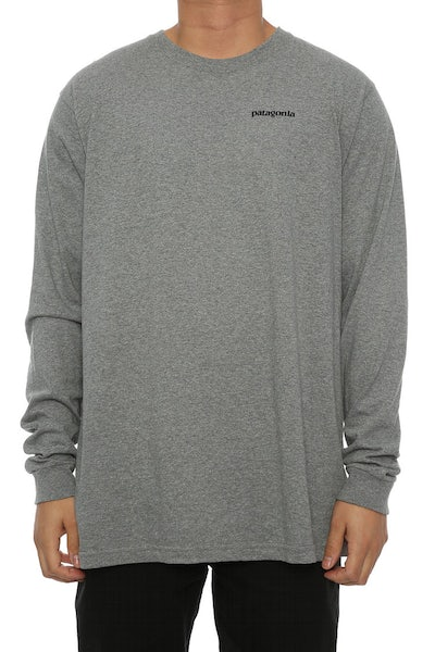 P-6 Logo Long Sleeve Grey Heather