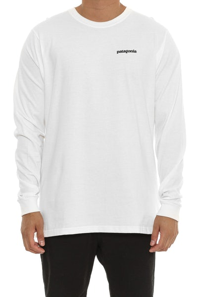Patagonia P6 logo Long Sleeve White