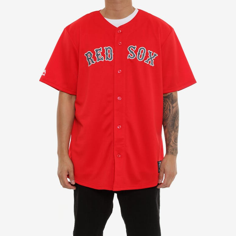 cb4ffa78d Majestic Athletic Red Sox Replica Jersey Red – Culture Kings