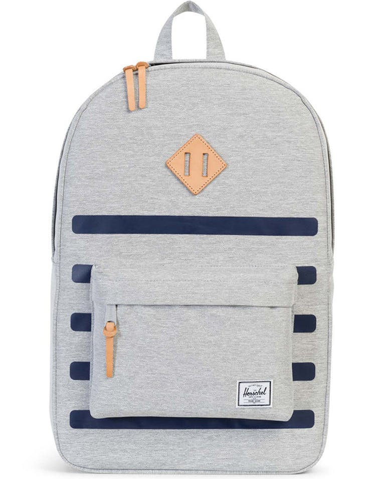 1c25fc5a3b0 Herschel Supply CO Heritage Offset Backpack Grey Navy – Culture Kings
