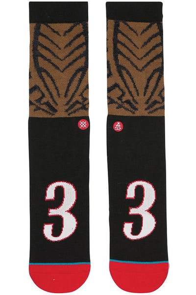 Stance AI Cornrows Sock Brown