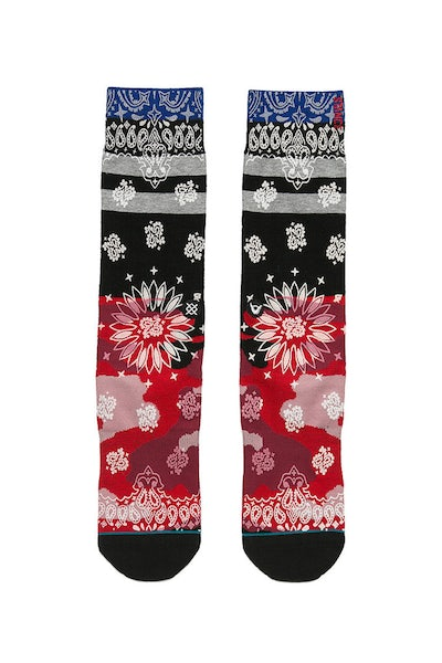 Stance Harden Peacemaker Sock Red