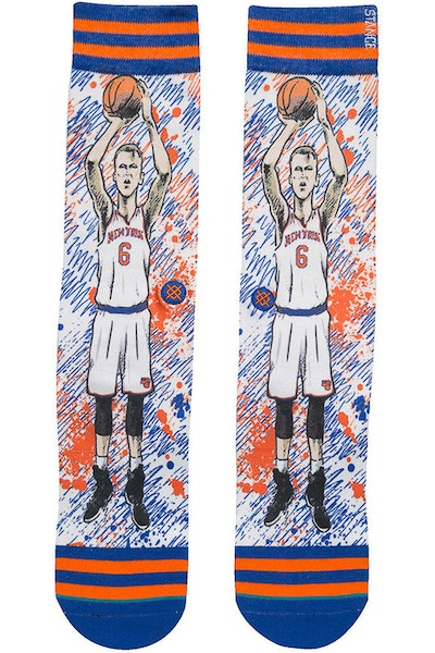 Stance NBA Legends by Todd Francis Porzingis Sock Blue