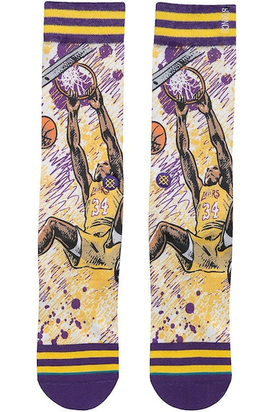 Stance NBA Legends by Todd Francis Shaq Sock Purple
