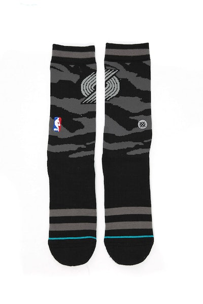 Stance Nightfall Blazers Sock Black