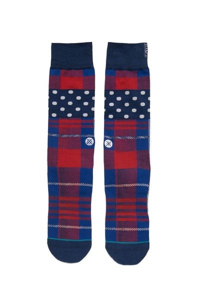 Stance Wade Polka Plaid Sock Multi-coloured