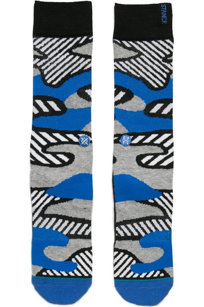 Stance Parsons Striped Camo Sock Grey/Blue