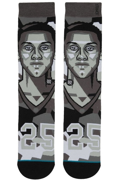 Stance Mosaic Simmons Sock Grey